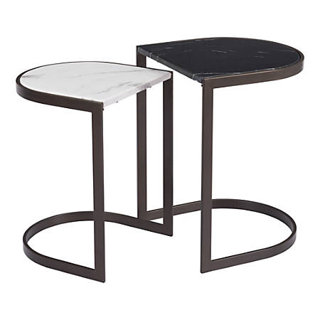 Zuo Modern Stanton Nesting End Tables, Round, Multicolor, Set Of 2 Tables