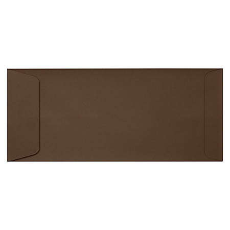 """LUX Open-End Envelopes With Peel & Press Closure, #10, 4 1/8"""" x 9 1/2"""", Chocolate Brown, Pack Of 500"""