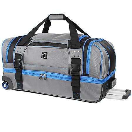 ful Streamline Soft Rolling Duffel Bag, Gray