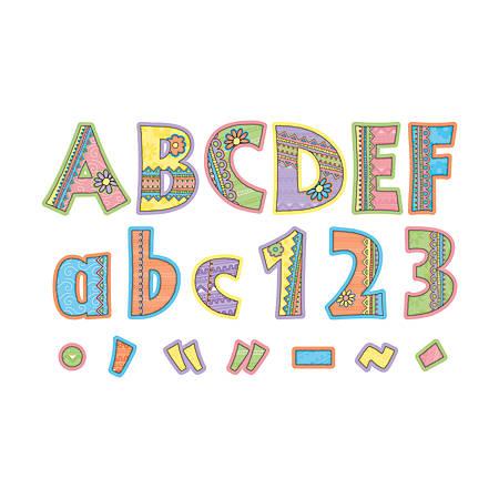 """Barker Creek® Letter Pop-Outs, 4"""", Pink Lemonade, Set Of 255"""