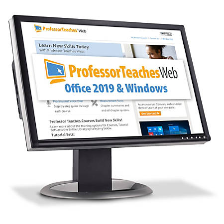 Professor Teaches Web - Office 2019 & Windows 10 Annual Subscription