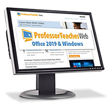 Professor Teaches Web Office 2019 Windows