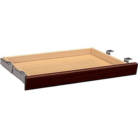 HON® 10700 Series™ Laminate Angled Wood Center Drawer, Mahogany