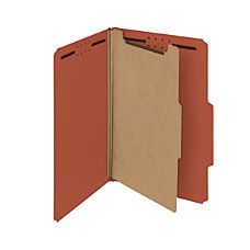 Smead Pressboard Classification Folders 1 Divider