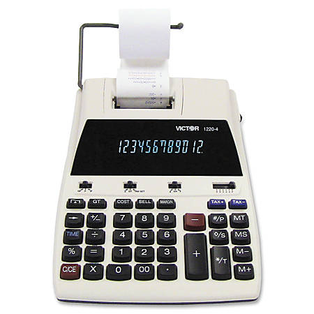 Victor® 1220-4 12-Digit Commercial Printing Calculator