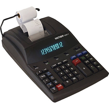 Victor® 1280-7 12-Digit Heavy-Duty Commercial Printing Calculator With Wireless Data Relay