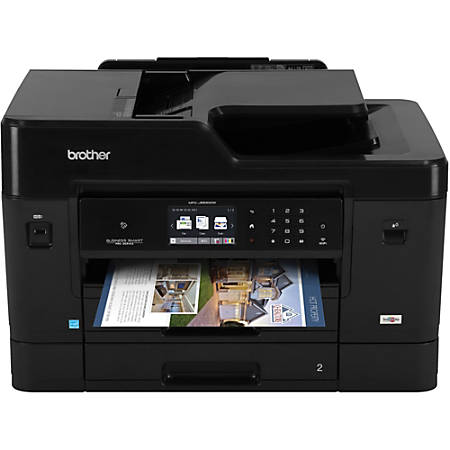 Brother Business Smart Pro Wireless Color Inkjet All-In-One Printer, Copier, Scanner, Fax, MFC-J6930DW