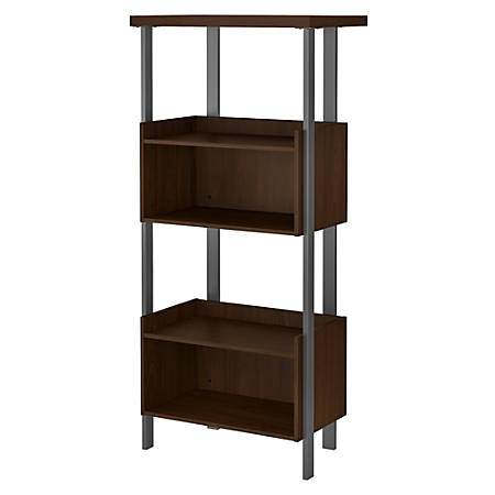 "Bush Furniture Architect 66""H 4-Shelf Bookcase, Modern Walnut, Standard Delivery"