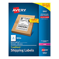Avery Permanent Internet Shipping Labels With