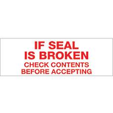 Tape Logic If Seal Is Broken