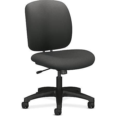 "HON ComforTask Chair, Iron Ore Fabric - Polymer Iron, Olefin Seat - Polymer Iron, Olefin Back - 5-star Base - 20"" Seat Width x 18"" Seat Depth - 23"" Width x 27.8"" Depth x 39.8"" Height"