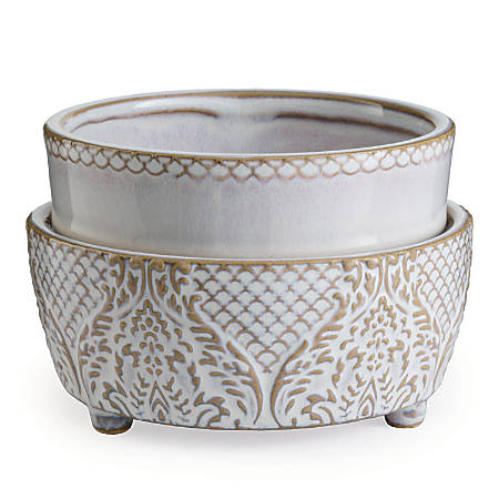Candle Warmers Etc 2-In-1 Classic Fragrance Warmer, Vintage White