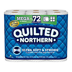 Quilted Northern® Ultra Soft & Strong 2-Ply Toilet Paper, 328 Sheets Per Roll, Pack Of 18 Mega Rolls
