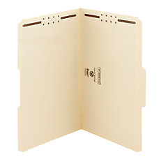 Smead Heavyweight Manila Fastener Folders Legal