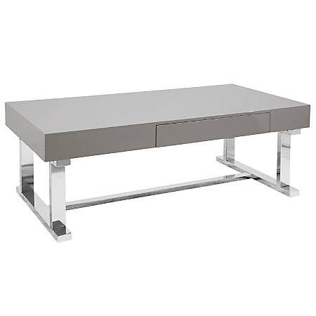 Lumisource Luster Coffee Table, Rectangular, Gray