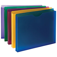 Smead Poly Expanding File Jackets Assorted