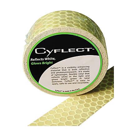 "LC Industries Honeycomb Reflective Adhesive Tape, 1 1/2"" x 60"", Yellow"