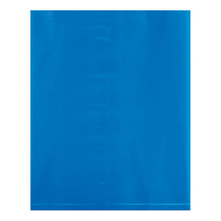 """Office Depot® Brand Flat 2-Mil Poly Bags, 8"""" x 10"""", Blue, Case Of 1,000"""