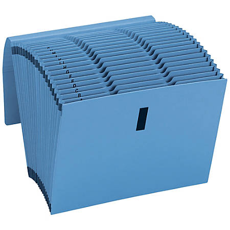 Smead® CutLess®/WaterShed® Expanding Files, 21 Pockets, Alphabetic, 30% Recycled