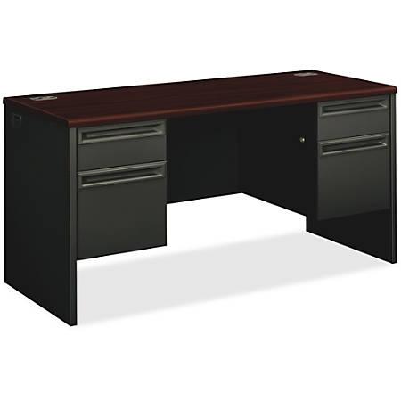 HON®38000 Series Kneespace Credenza, Mahogany/Charcoal