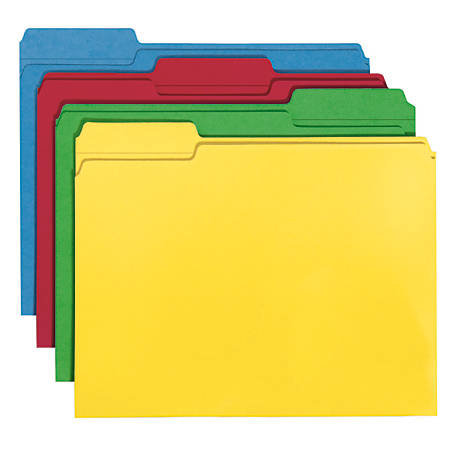 Smead® Color File Folders, Letter Size, 100% Recycled, Assorted Colors, Box Of 100