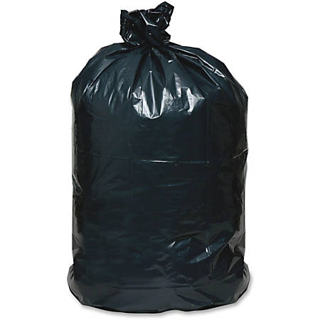 """Webster Reclaim Heavy-Duty Recyled Can Liners - Medium Size - 33 gal - 33"""" Width x 39"""" Length - 1.65 mil (42 Micron) Thickness - Black - Plastic - 100/Carton - Can"""