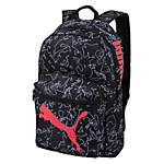"PUMA Essential Backpack With 15"" Laptop Pocket, Black/Pink"