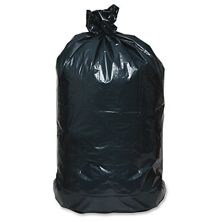 """Webster Reclaim Heavy-Duty Recyled Can Liners - Extra Large Size - 60 gal - 38"""" Width x 58"""" Length - 2 mil (51 Micron) Thickness - Black - Plastic - 100/Carton - Can"""