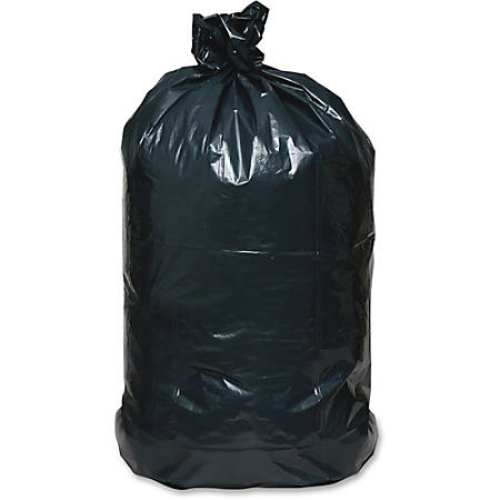 "Webster Reclaim Heavy-Duty Recyled Can Liners - Extra Large Size - 60 gal - 38"" Width x 58"" Length - 1.65 mil (42 Micron) Thickness - Black - Plastic - 100/Carton - Can"
