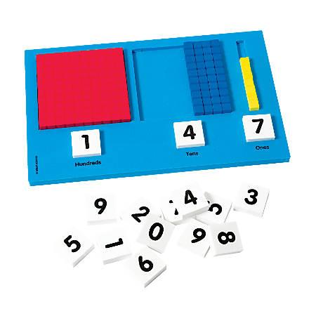 "Didax Base-Ten Place Value Frame, 7""H x 11""W x 1""D, Blue"