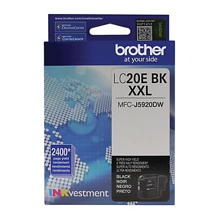 Brother® LC20EBKS Extra-High Yield Environmental Program Black Ink Cartridge