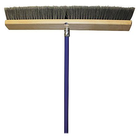 """Genuine Joe All Purpose Sweeper - 18"""" Width x 60"""" Metal Handle - 1 Each"""