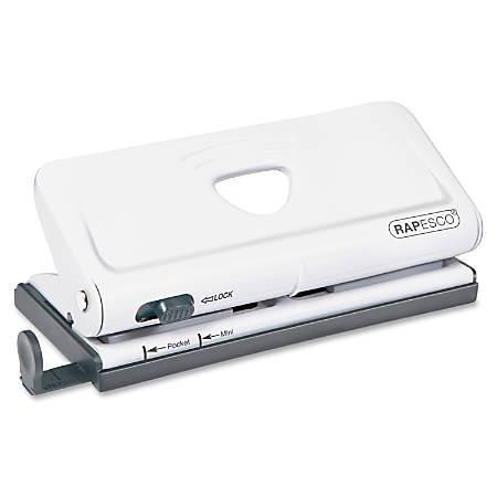 Rapesco Adjustable 6-Hole Organizer/Diary Punch, White