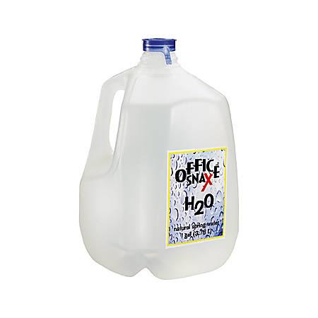 Office Snax Bottled Spring Water, Gallon, 3 Bottles/Carton