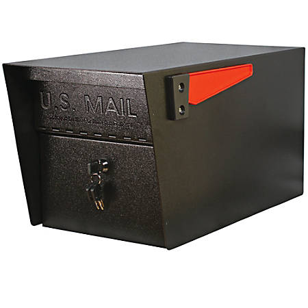 "Mail Boss Mail Manager PRO Security Mailbox, 11-1/4""H x 10-3/4""W, 21""D, Black"