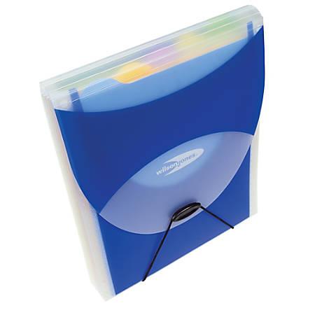 Wilson Jones® Big Mouth® Folio Filer Plus, Letter Size, Dark Blue