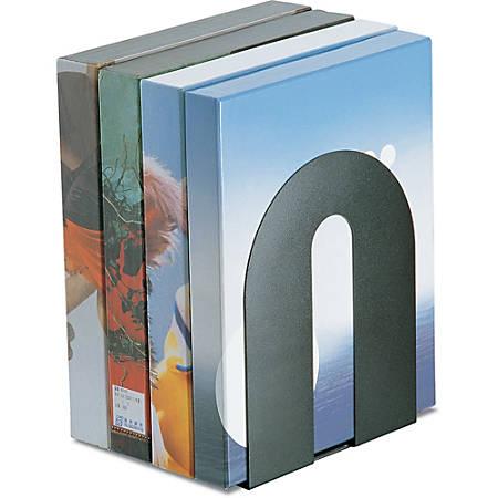 """Office Depot® Brand Heavy-Duty Bookends, 10""""H x 8""""W x 8""""D, Black"""