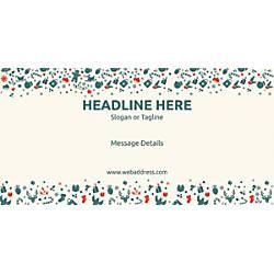 Custom Horizontal Banner Green Christmas Elements