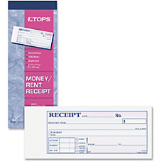 TOPS Money Receipt Book 15 lb