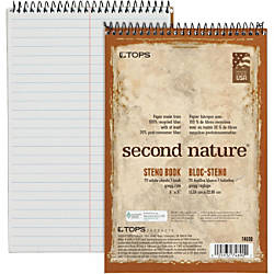 TOPS Second Nature Steno Book Recycled