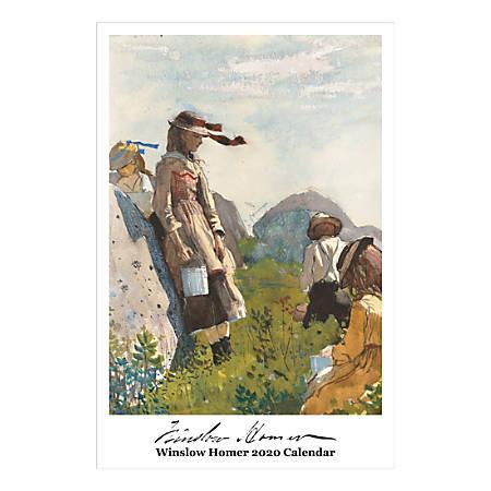 "Retrospect Winslow Homer Monthly Wall Calendar, 19"" X 12-1/2"", January To December 2020, YC 071-20"