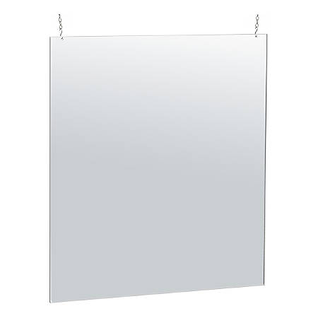 """Azar Displays Hanging Acrylic Poster Frame, 40""""H x 30""""W x 1/4""""D, Clear"""