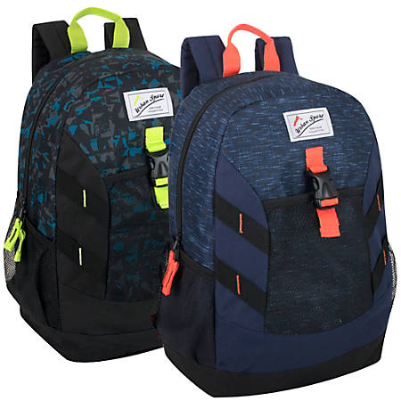 "Trailmaker 18"" Backpacks, Assorted Colors, Case Of 24 Backpacks"