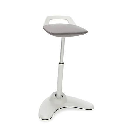 OFM Vivo Height-Adjustable Perch Stool, Gray/Cream