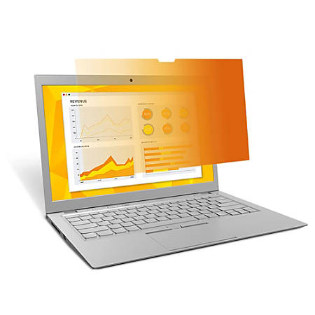 """3M™ Notebook Privacy Filter, 13.3"""" Widescreen (16:9), Gold"""