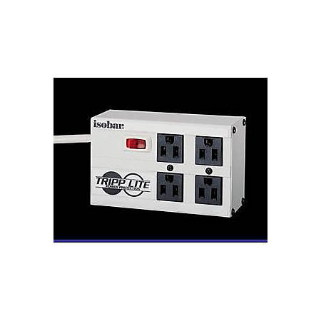 Tripp Lite Isobar Surge Protector Metal 4 Outlet 6' Cord 3330 Joules - Receptacles: 4 x NEMA 5-15R - 3330J