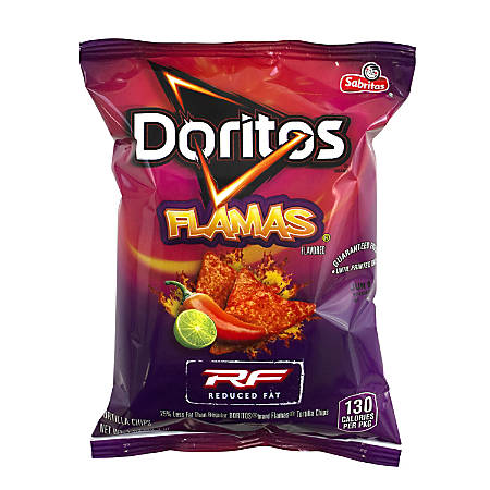 Doritos Reduced Fat Flamas Chips, 1 Oz, Pack Of 72