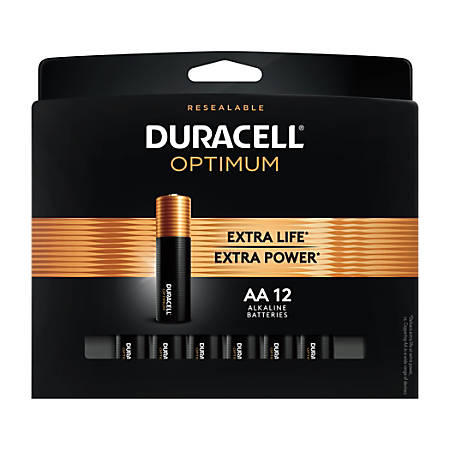 Duracell Optimum AA Batteries, Pack of 12