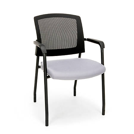 OFM Model 424 Guest Chair, Gray/Black