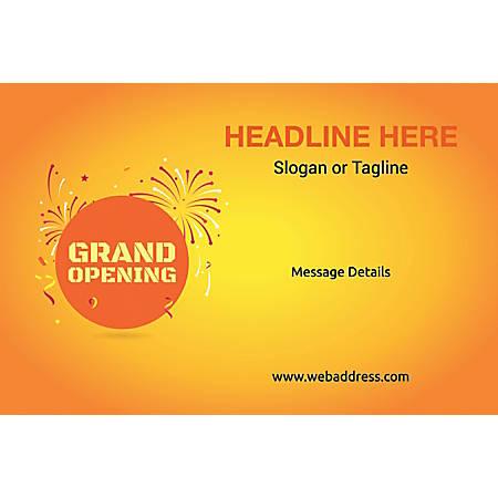 Adhesive Sign, Grand Opening, Horizontal
